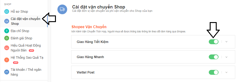 Cách thêm địa chỉ người bán trên Shopee