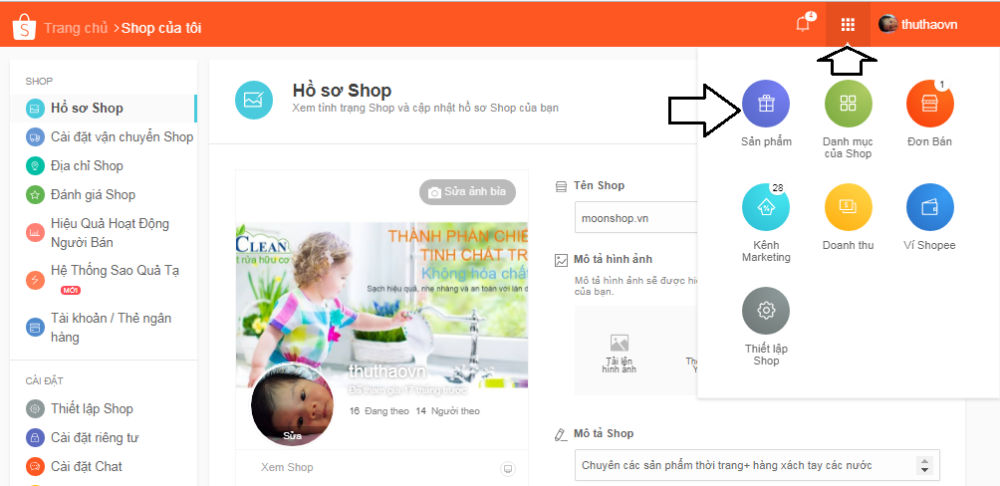 Cách đăng bán hàng trên shopee