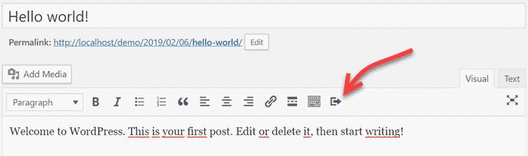 Làm thế nàođể thêmliên kếtvào button trong WordPress