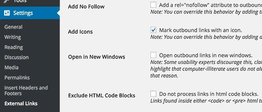 Làm sao đểđể Thêm một iconliên kếtngoài trong WordPress?