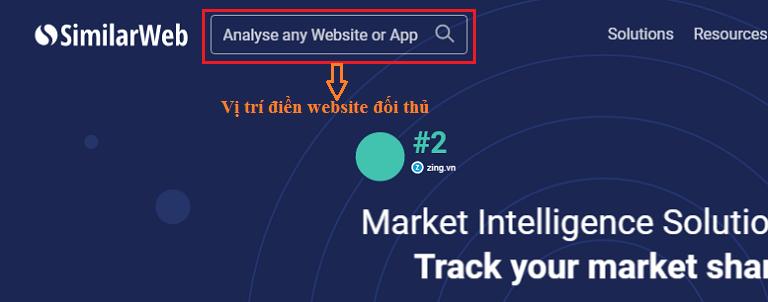 Website similarweb.com cho phép bạn xem lượng truy cập của đối thủ