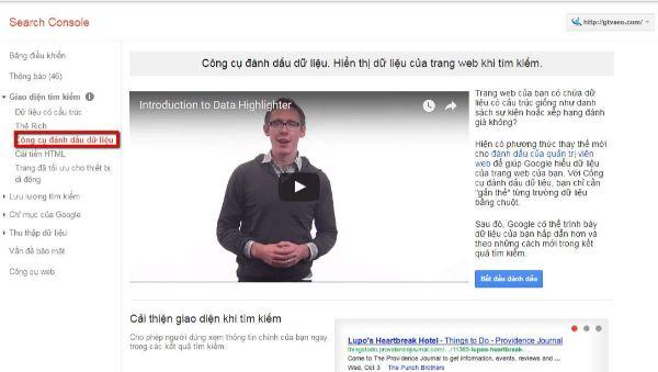 data highlighter của google webmaster tool