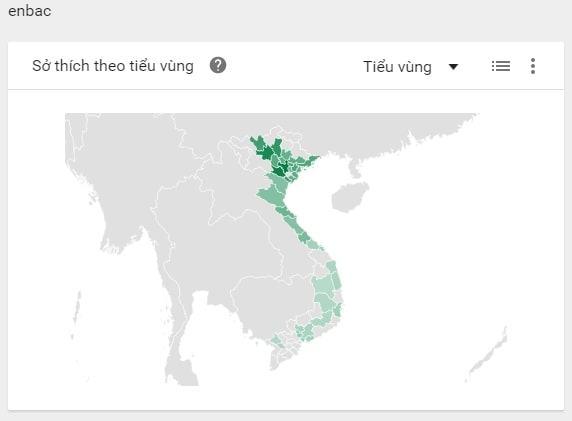 cách sử dụng Google Trends tìm độ phủ enbac