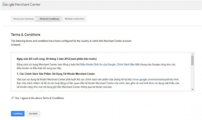 Sẽ có những chính sách rất quan trọng khi đăng ký chạy Google Ads Shopping