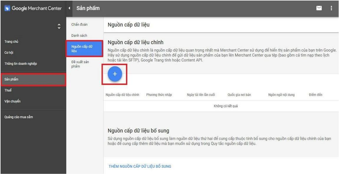 Cập nhật dữ liệu lên Google Merchant