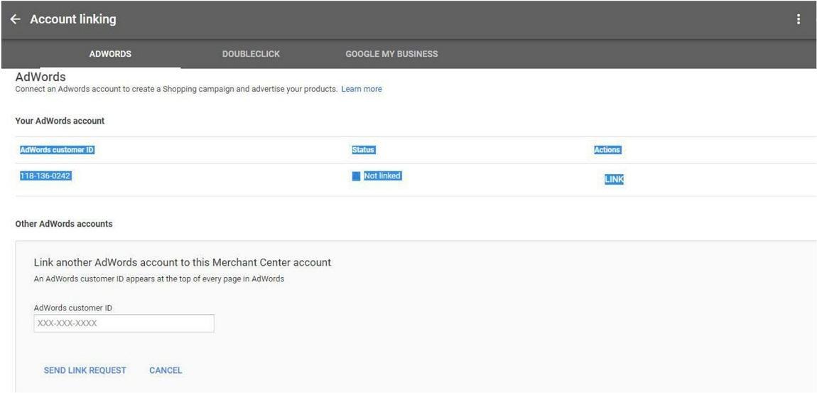 Liên kết Google Merchant với google Adword