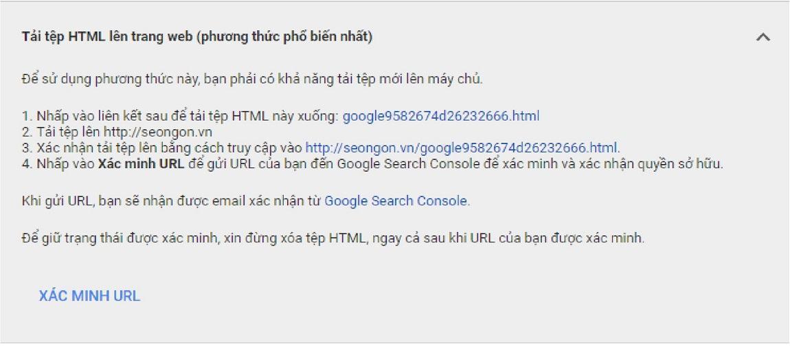 Gắn mã html xác thực Merchant bằng gắn mã html