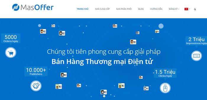 MasOffer là nền tảng tiếp thị liên kết được phát triển bởi người Việt.
