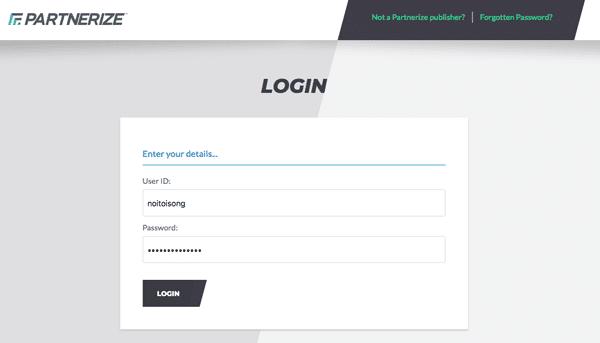 đăng nhập trang quản trị shopee affiliate