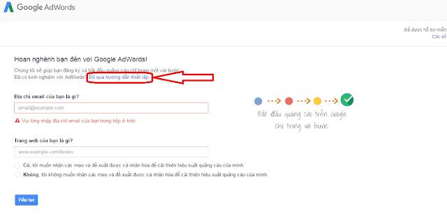 Hướng dẫn đăng ký Google Adwords - Tạo tài khoản mới
