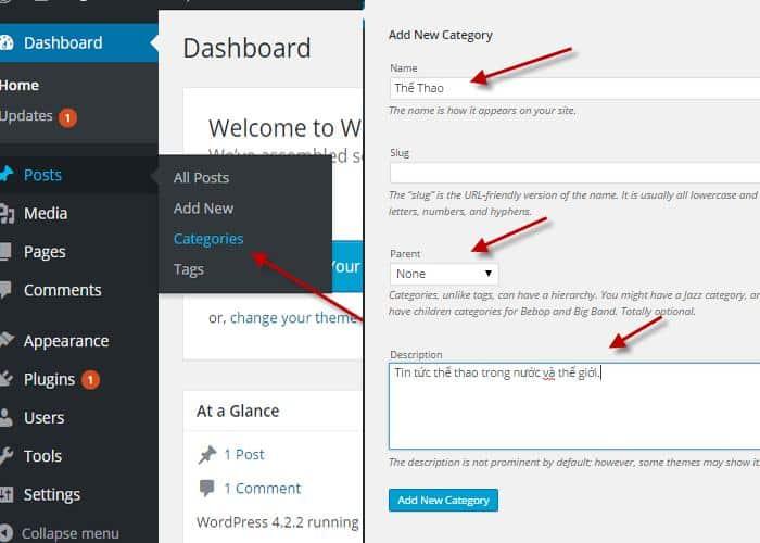 Chỉ cần 2 bước bạn có thể nhanh chóng tạo thành công một Category cho website WordPress