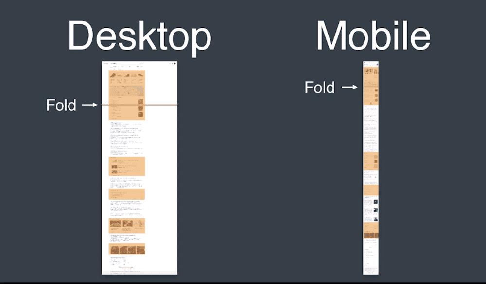 phiên bản Desktop và Mobile khi search