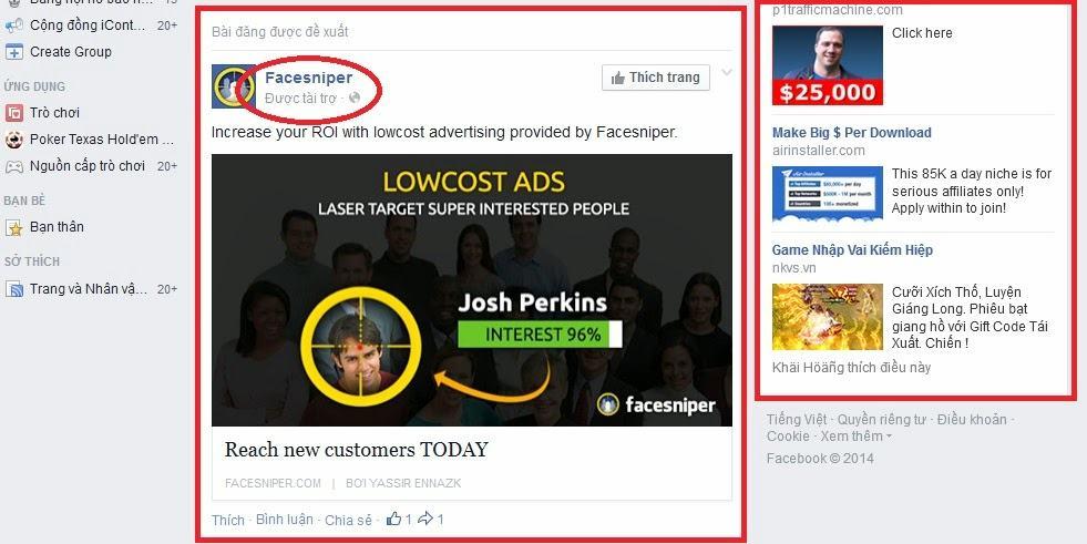 quảng cáo tài trợ