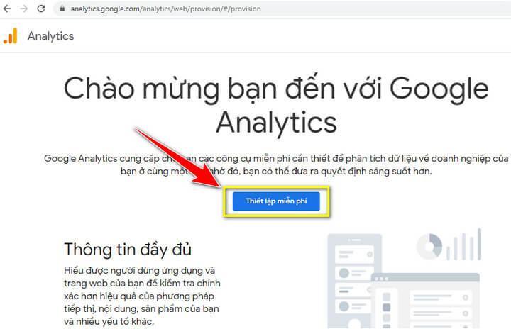 Đăng ký tài khoản Google Analytics