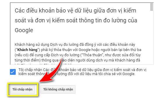 Điều khoản dịch vụ của Google Analytics