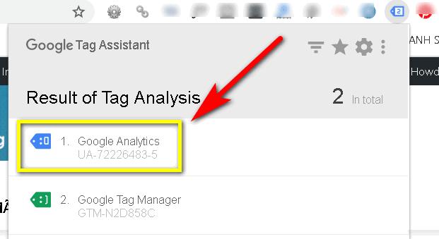 Cài đặt Google Analytics thành công
