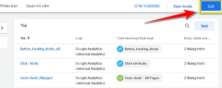 Cài đặt Google Analytics vào website thông qua Google Tag Manager
