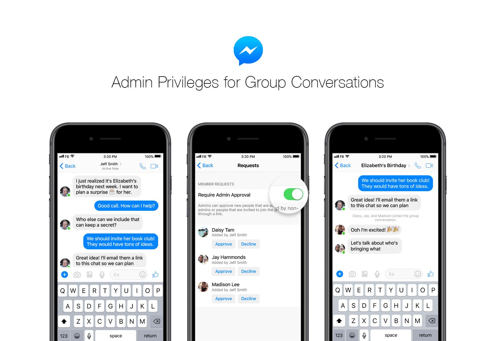 Facebook Messenger vừa được cập nhật mới
