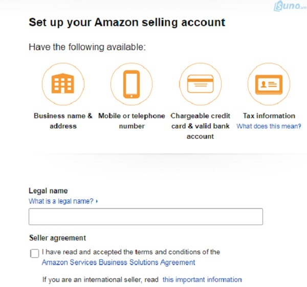 Tạotài khoảnngười bán trên Amazon của bạn