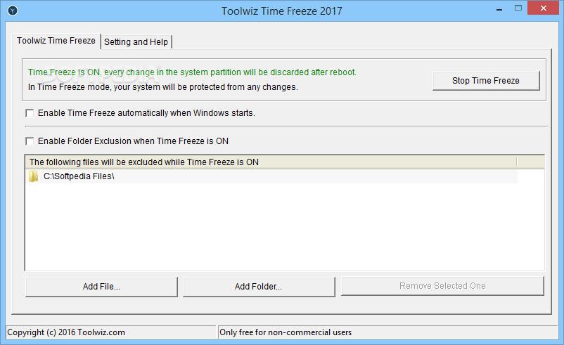 Toolwiz Time Freeze Phần mềm đóng băng ổ cứng
