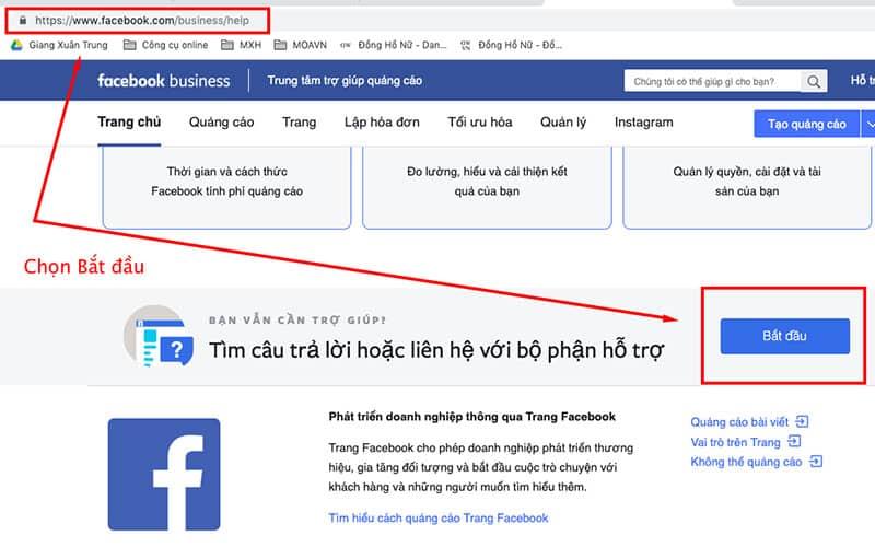 Các bước thanh toán tiền nợ quảng cáo Facebook