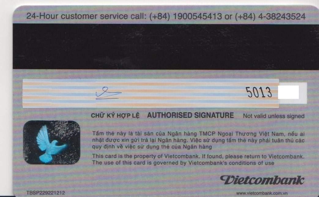 Cấu tạo của thẻ Visa