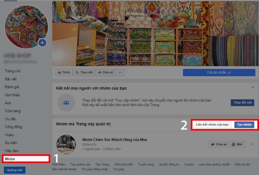 Hướngdẫncách liên kếtnhómvớifanpageFacebook