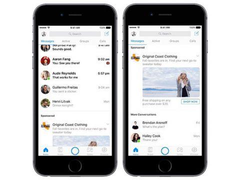 Đến lượt Facebook Messenger hiển thị quảng cáo thương mại