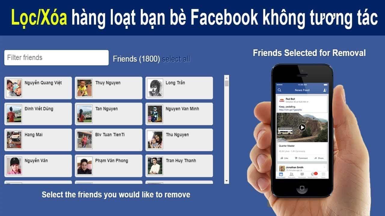 cách lọc bạn bè không tương tác trên Facebook