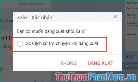 Sao lưu tin nhắn Zalo trên PC