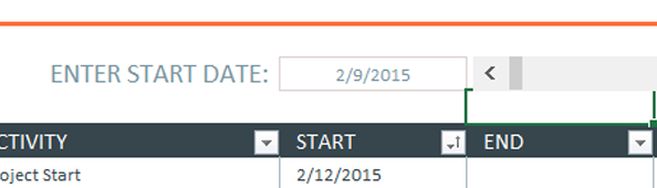 Mẫu Excel cho dòng thời gian