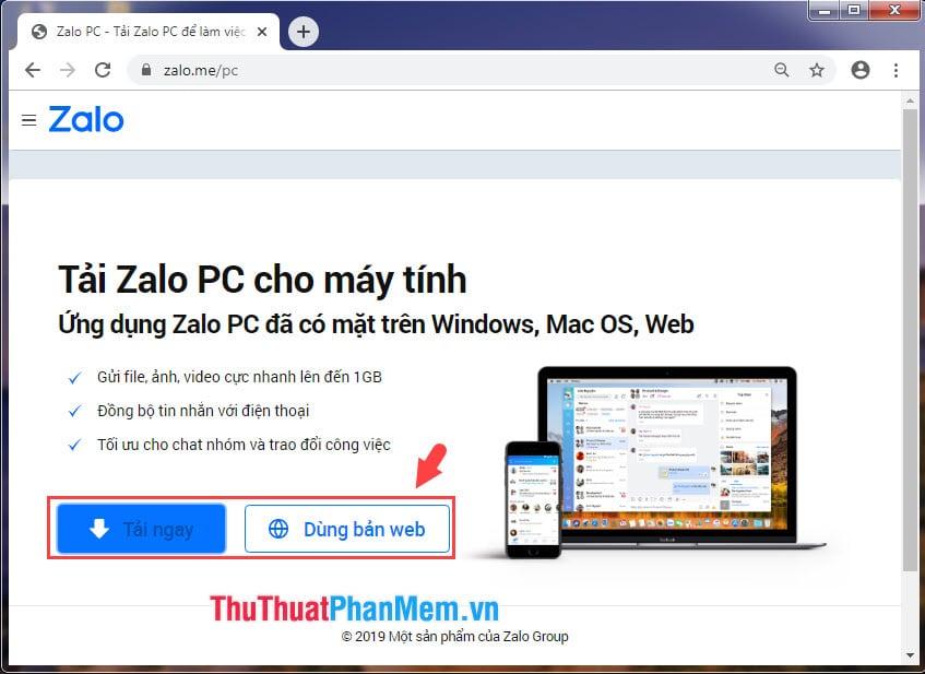 Đăng nhập 2 nick Zalo bằng Zalo web và Zalo PC