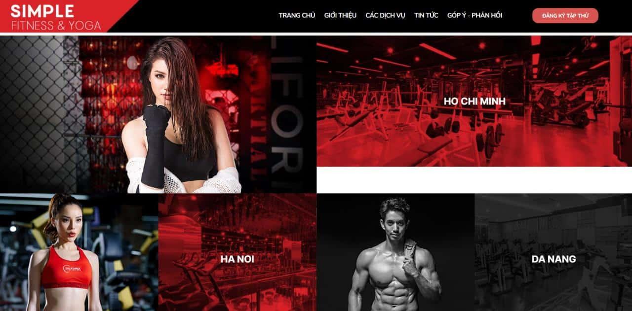 Landing Page website về Gym - Body Building