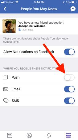 dừng thông báo facebook