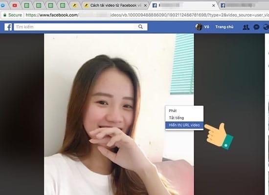 Cách tải video Facebook trên máy tính