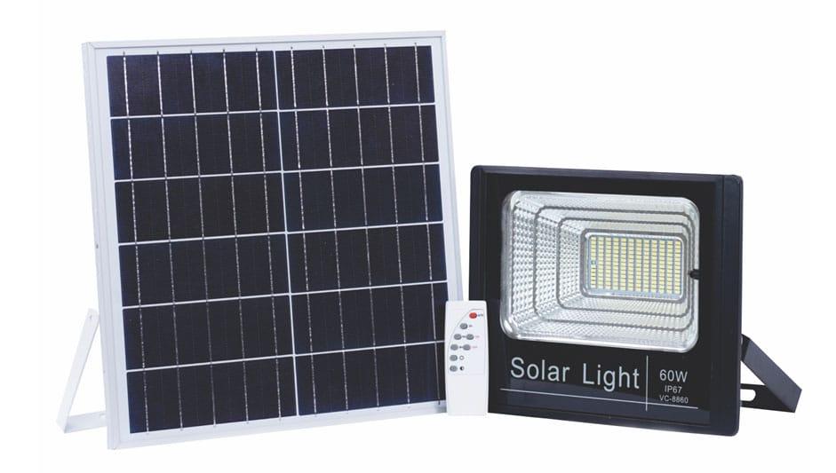 Đèn Led chiếu sáng năng lượng mặt trời 60W-VC-8860 - META.vn