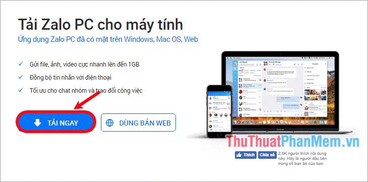 Hình 2 của Cách đăng nhập Zalo trên máy tính, laptop