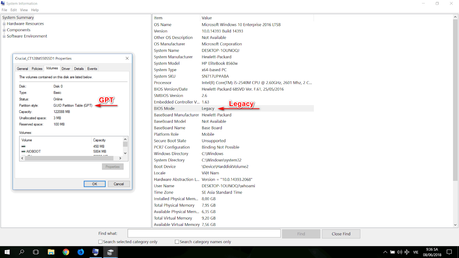Nếu HDD đang ở dạng MBR thì chuyển sang định dạng GPT bằng cách vàoDiskchọnConvert to GUID Khi đã ở định dạng GPTthì xoá phân vùng Windows cũ, rồi tạo 3 phân vùng mới là EFI, MSR và phân vùng Windowsnhư sau: