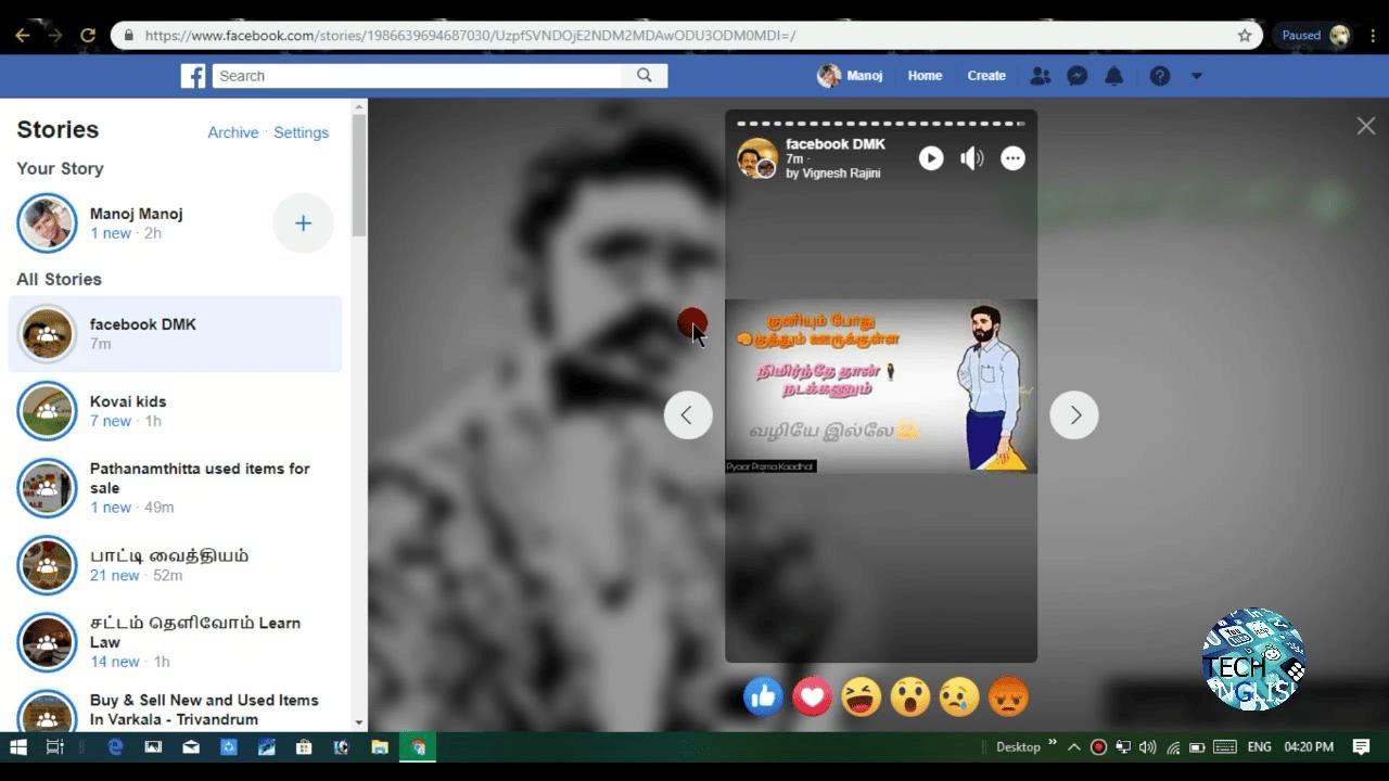 Nếu các bạn muốn xem story đã đăng của mình, Bạn có khả năng lựa chọn cách coi từ áp dụng trang kênh Facebook trên di động, máy tính hoặc coi từ app Messenger.