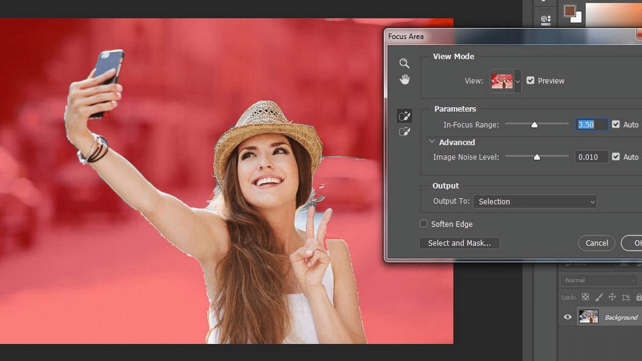 Cách này áp dụng cho các ảnh có nền đơn màu, phông đơn giản.