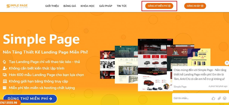 Phần mềm tạo Landing Page