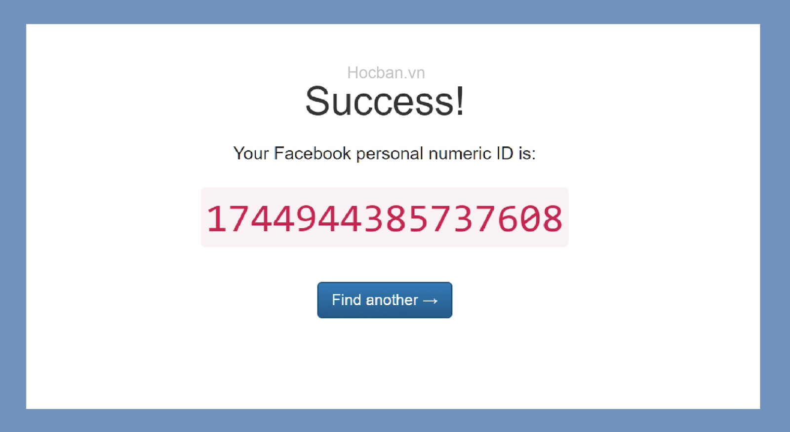 Bạn là người thường khi dùngthìIDFacebookcó vẻ như khôngđặc biệtcho lắm. IDtrang Facebookchủ yếuđượcsử dụngbởi những người làm marketing hoặc lập trình viên.