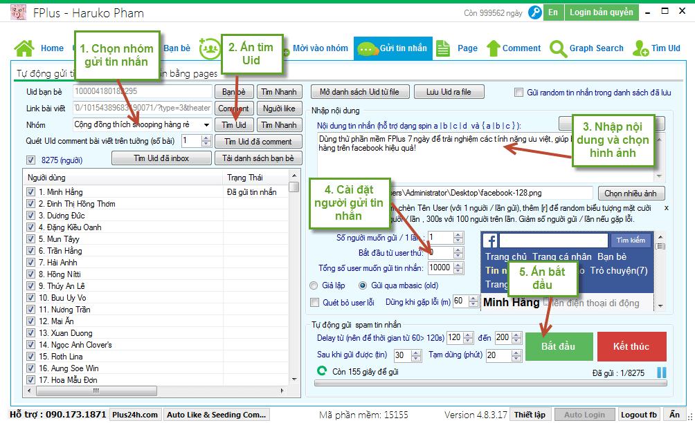 Fplus - Phần mềm hỗ trợ tăng follow