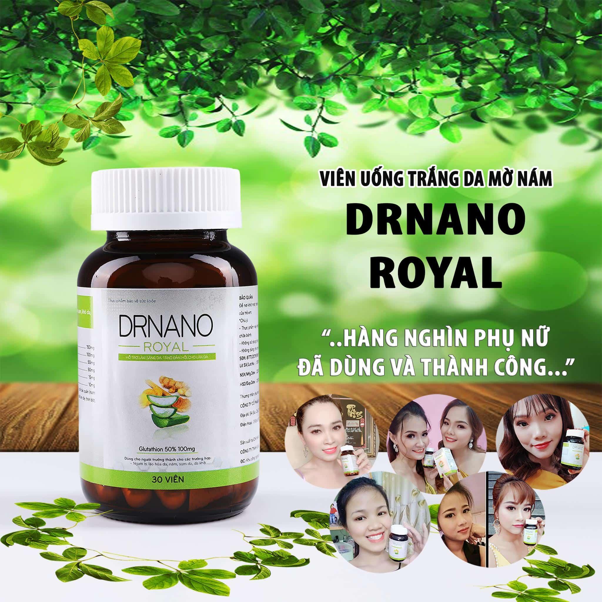 VIÊN UỐNG TRẮNG DA DR NANO ROYAL HOT 2021
